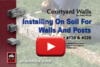 Building a patio wall on soil