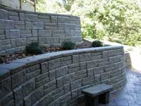 terrace retaining wall