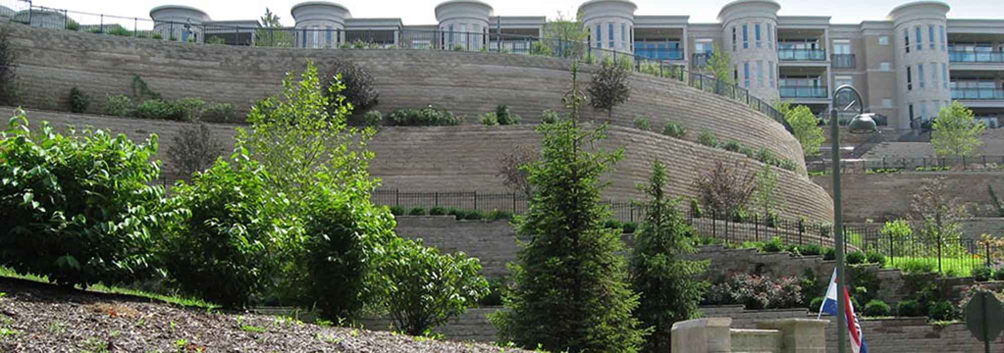 terraced walls