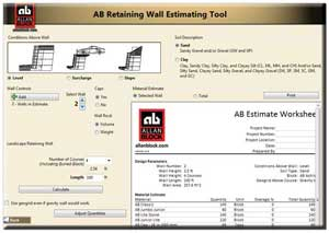 allan block estimating tool for retaining walls patio walls and fences